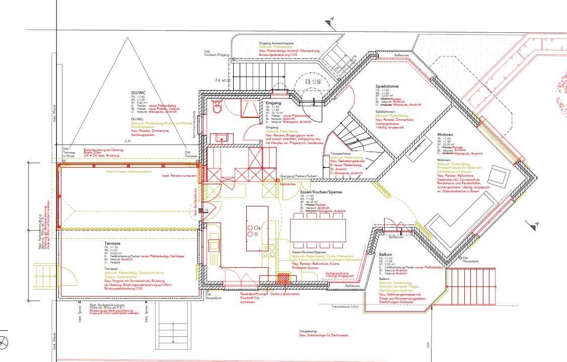 Umbau Erweiterung Einfamilienhaus, Balzers