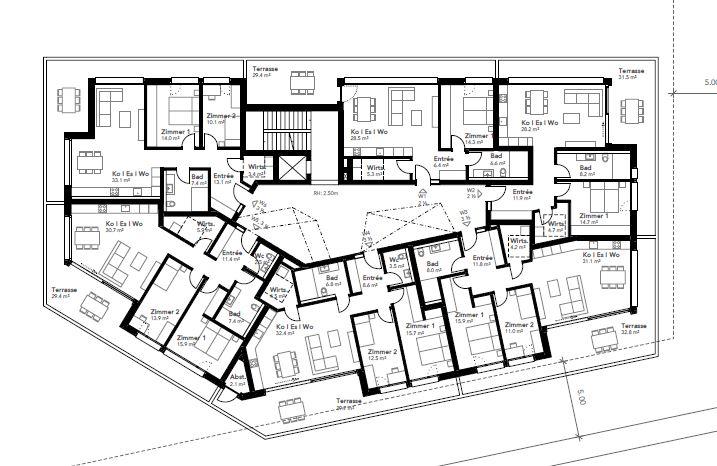 Neubau Wohn- und Gewerbehaus Klauser, Walenstadt